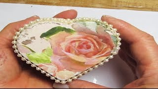 How To Decoupage Shabby Roses On A Wooden Box