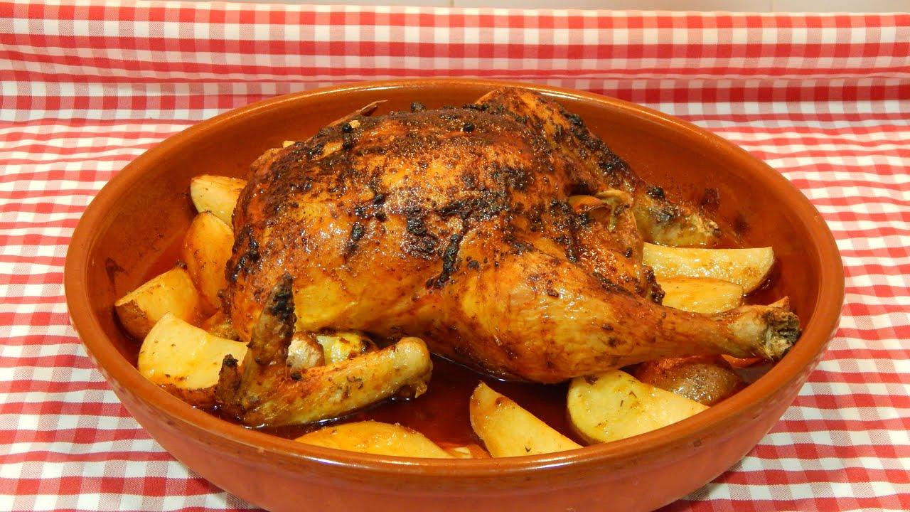 C mo hacer pollo adobado al horno receta f cil youtube - Como cocinar pollo al horno ...