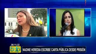 Nadine Heredia critica que solo puede hablar con sus hijos por cinco minutos