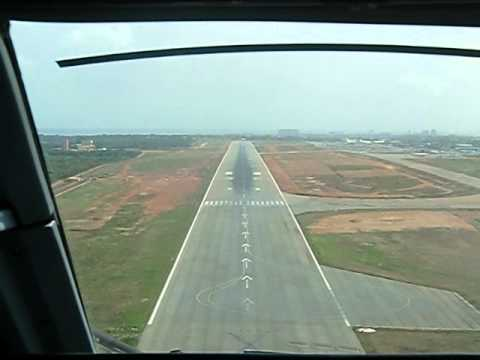 Landing in Accra, Ghana - Cockpit View