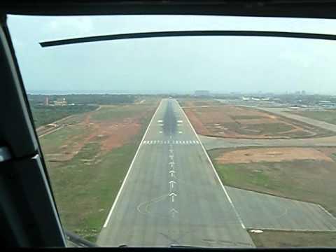 Landing In Accra Ghana Cockpit View Youtube