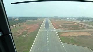 Landing in Accra, Ghana - Cockpit View