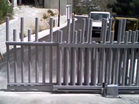 Puertas correderas automaticas de 2 hojas telescopica - Puertas de dos hojas ...