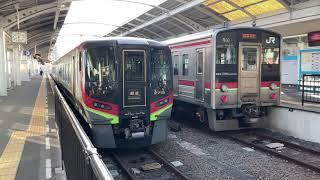 【4K】なぜ?高徳線から予讃線 2700系 特急うずしお22号岡山行き が車庫から入線 高松駅