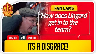 RICKY! LINGARD NOT GOOD ENOUGH! Arsenal 2-0 Manchester United Fan Cam