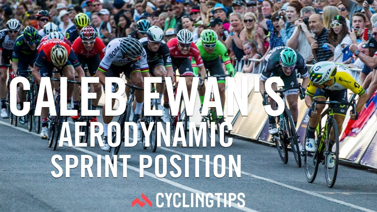 Caleb Ewan s Aerodynamic Sprint position - YouTube 4d637f0ec