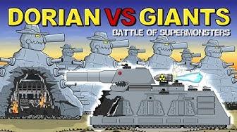 """One Dorian vs Seven Giants"" - Cartoons about tanks"