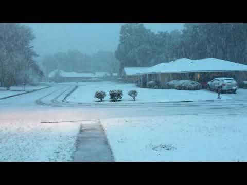 Snow in Hammond, Louisiana