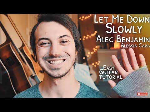 Let Me Down Slowly Alec Benjamin Guitar Tutorial // Let Me Down Slowly Guitar // Guitar Lesson #628