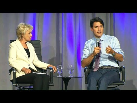 Trudeau speaks at Canadian Women in the World summit