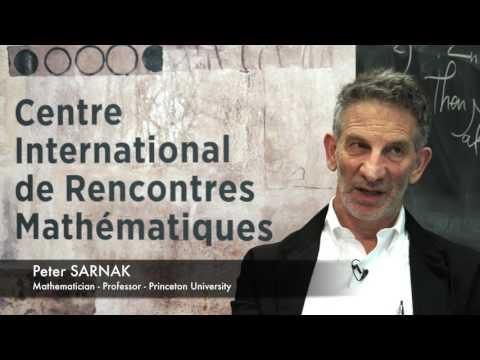 INTERVIEW AT CIRM: PETER SARNAK