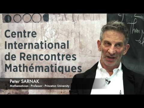 INTERVIEW AT CIRM: PETER SARNAK
