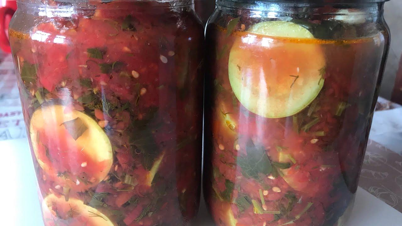 Кабачки «Огонёк» на зиму в томатном соусе без стерилизации