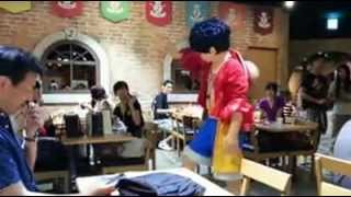 Lupie of One Piece has been seen live in resto somewhere in japan