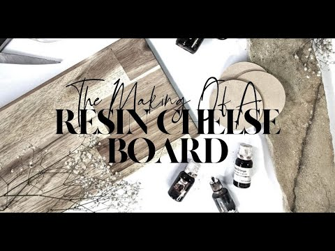 The Making of A Resin Art Chopping Board Cheese Board | The Fifth Design