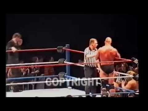 Clint August - FAN Attacks on STONE COLD !! TRIPLE H Beats the FAN !