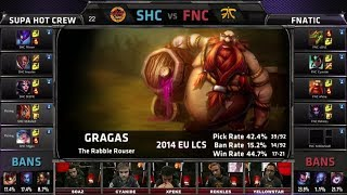 Video SUPA HOT CREW vs Fnatic | Season 4 EU LCS Spring 2014 Week W10D1 G4 | SHC vs FNC Full game HD download MP3, 3GP, MP4, WEBM, AVI, FLV Oktober 2018