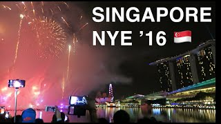 SINGAPORE on NEW YEARS EVE.. VLOG!??? ? Marina Bay Countdown & Little India Food | 2016 Travel