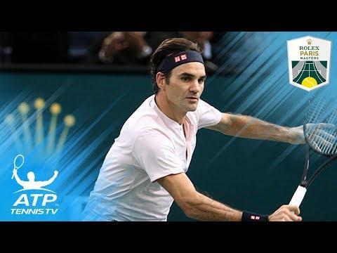 Roger Federer Best Shots at Rolex Paris Masters 2018!