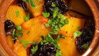 Баранина в горшочке с черносливом видео рецепт