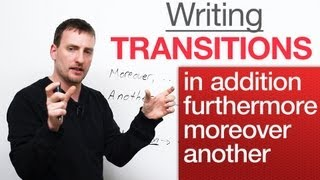 Writing - Transitions - in addition, moreover, furthermore, another thumbnail