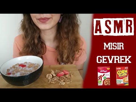 türkçe asmr misir gevreği yemek sesleri turkish asmr