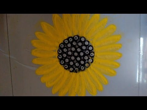 sunflower rangoli design /kolam design