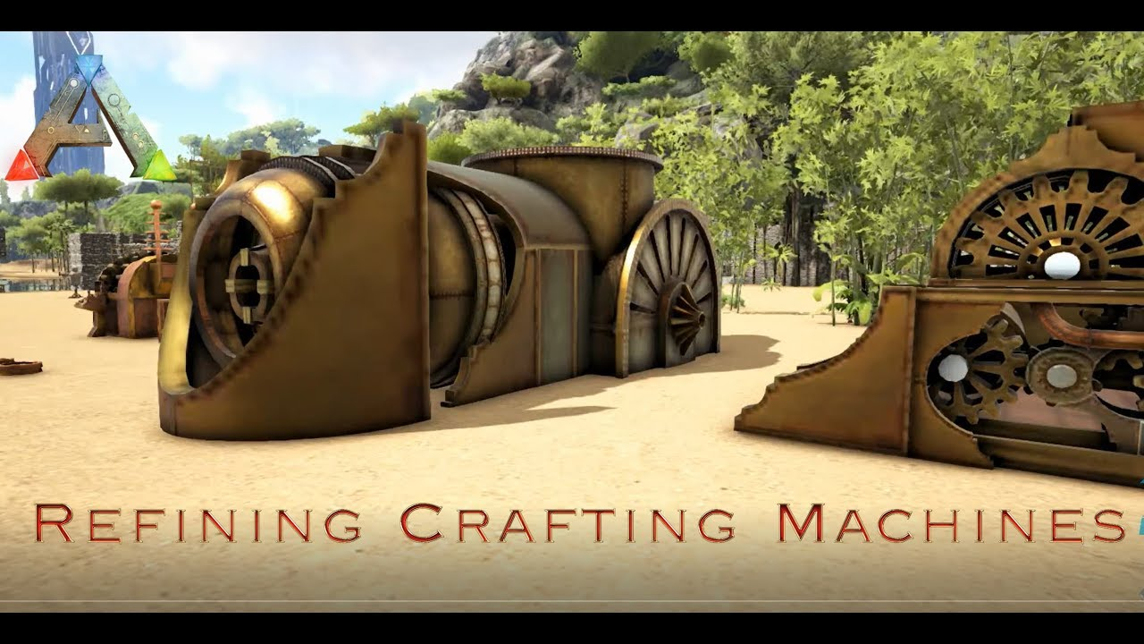 Ark Steampunk mod: all refining crafting machines explained | Tutorial
