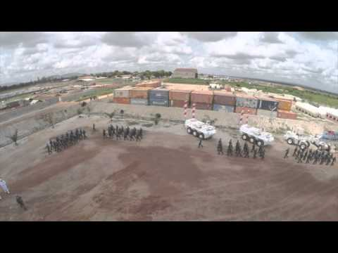 Gopro Medal Parade MINUSCA XXXVII A no sound Indonesia UN Mission Central Africa Republic