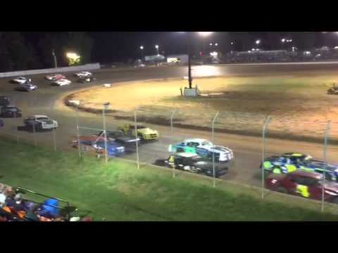 Factory Stock Feature at Ark-LA-Tex Speedway 4/11/15 Part 1