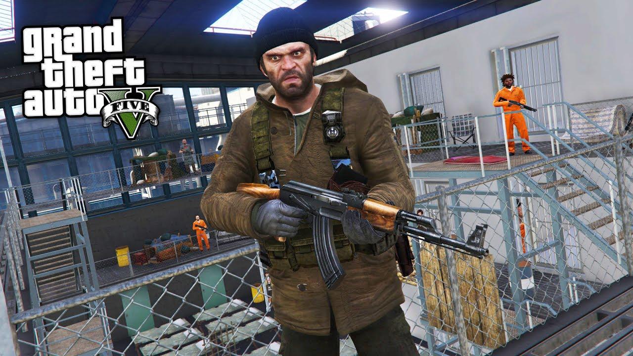 GTA 5 Zombie Apocalypse Mod #12 - PRISON FORTRESS!! (GTA 5 Mods)