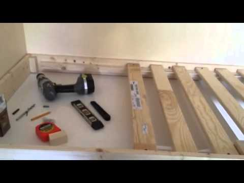 Custom built stair box bed (part 1) - YouTube