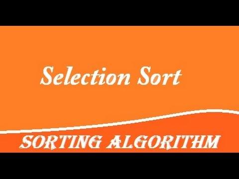 Selection sort algorithm in c