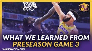 Lakers Nation Podcasts: What We Learned From Lakers Preseason Game 3