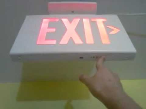 Dual Lite Lx Exit Sign Test Youtube