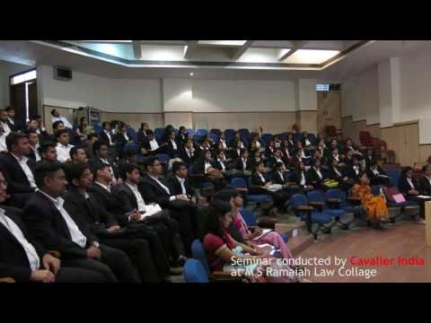 Entry for Law Graduates in Defence Forces || Cavalier India Seminar - Col Victor Gomes