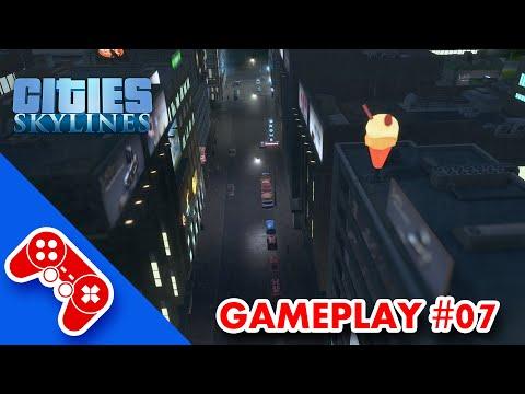 cities: skylines gameplay ITA #07: nuovo centro commerciale tra paura e buio
