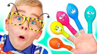 Пять красочных шариков | Настя играет с шариками - Детские песенки от Tamiki Amiki