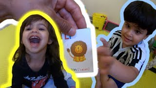 Aprendendo Inglês Brincando com Figuras Ilustrativas com Kai e Clara.