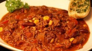 Chili con carne. Wie kocht man ein richtig gutes Chili con carne.