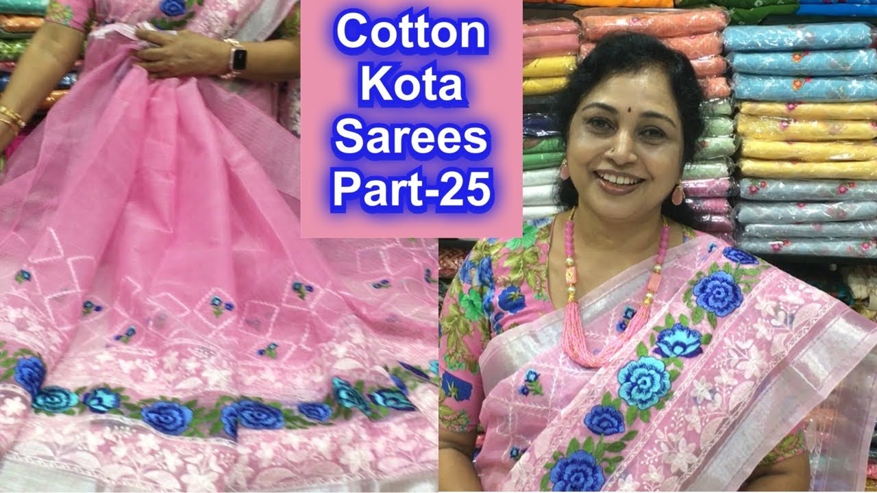 Cotton kota sarees part-25,Surekha Selections,Vijayawada, whatsapp no8978131771