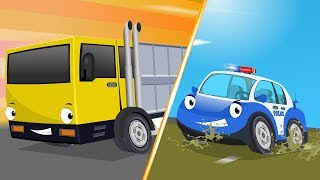 Police Car Chase Transport Vehicle | Super Red Car, Fire Truck Cartoon Songs & Rhymes