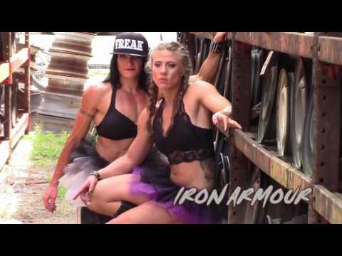 JUNK YARD MUSCLE w/ IRON ARMOUR IFBB PRO JENNIFER TAYLOR and KRISTEN DUMONT