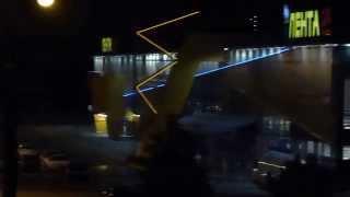 Ночной вид из окна. Лето. Улица Димитрова.