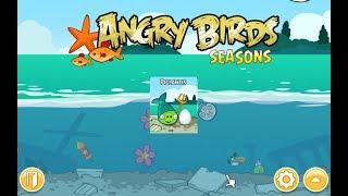 Angry Birds Seasons. Piglantis (level 1-2) 3 stars Прохождение от SAFa