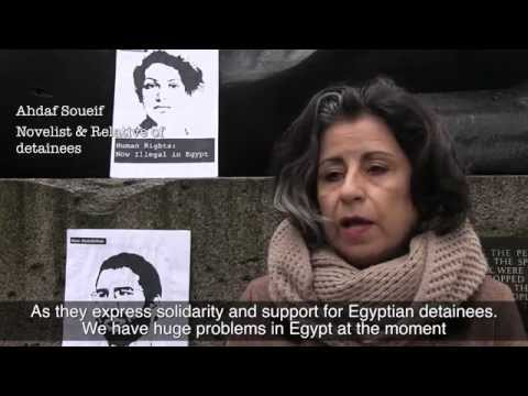 Sphinx gagged in London Egypt solidarity protest
