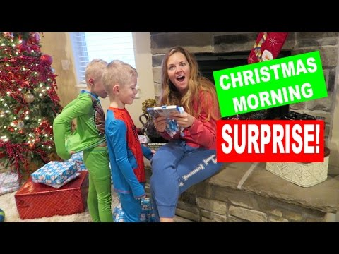 CHRISTMAS MORNING SURPRISE!