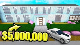 Construire mon 5 000 000 $ DREAM MANSION à BLOXBURG! (Roblox)