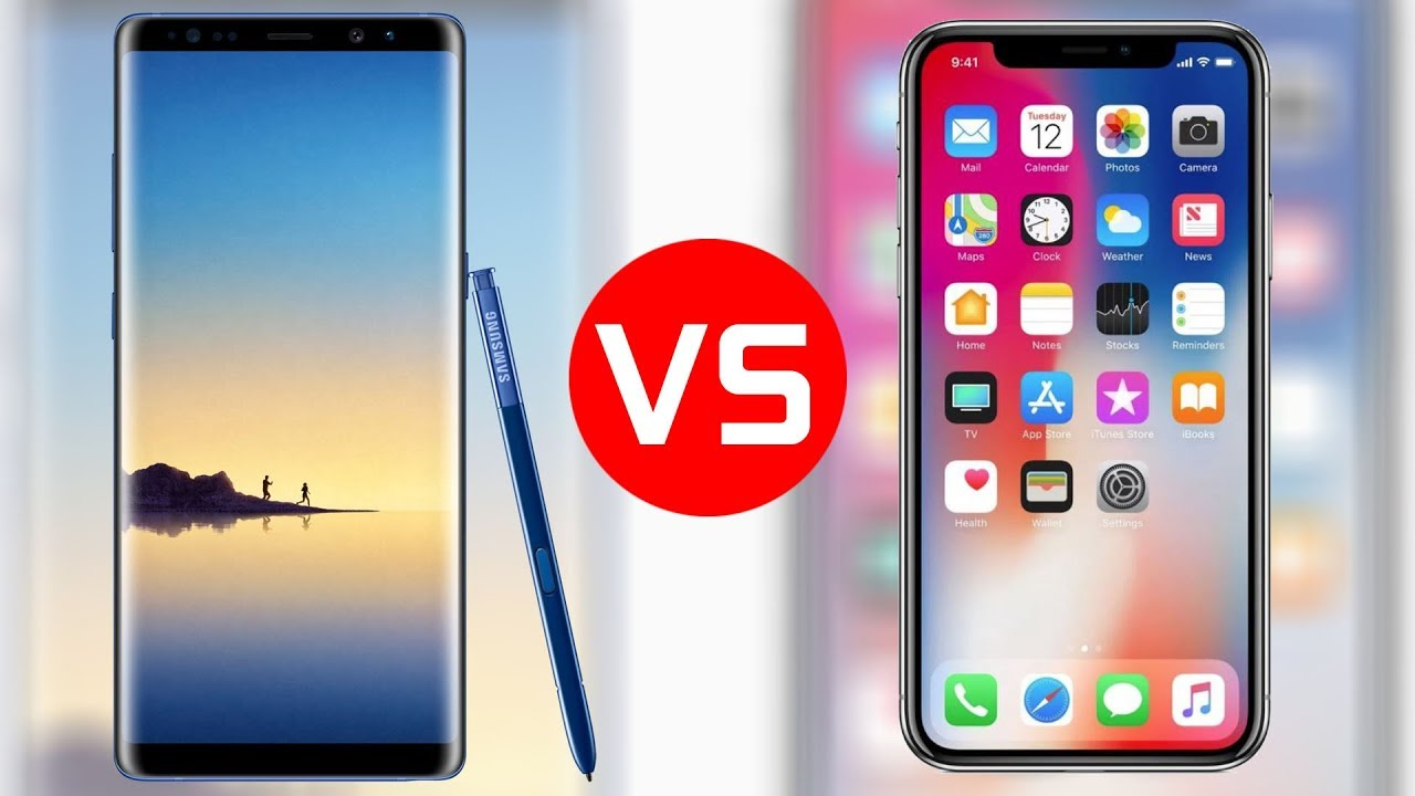 iphone vs samsung iphone x vs samsung galaxy note 8 which one s better 12454
