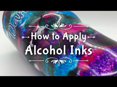 How to Apply Alcohol Ink to a Tumbler